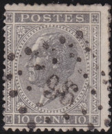 Belgie     .    OBP        .    17 A    .         O      .        Gebruikt  .   /   .   Oblitéré - 1865-1866 Profil Gauche