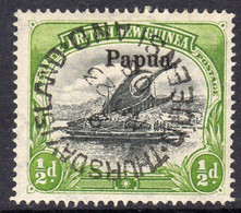 Papua British New Guinea 1906 ½d Lakatoi, Large Papua Overprint, Wmk. Vertical, Used, SG 21 (C) - Papua New Guinea