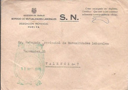 CARTA 1970 HUELVA - Franquicia Postal
