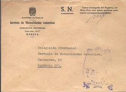 CARTA 1970 HUESCA - Franquicia Postal