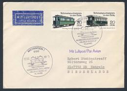 """DDR Germany 1989 Brief Cover - 75 Jahre Reichsbahnausbesserungswerk """"Helmut Scholz"""", Meiningen / Repair Shop - Treni"""