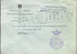 CARTA 1972 ALMADEN CIUDAD REAL - Franquicia Postal