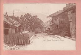 OUDE POSTKAART - ZWITSERLAND - SUISSE -       RUE A MONTANA - VS Valais