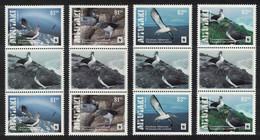 Aitutaki WWF Chatham Albatross Birds 4v Gutter Pairs Bird MNH SG#850-853 SALE BELOW FACE VALUE - Aitutaki