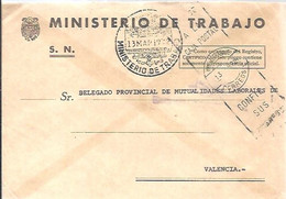 CARTA 1972 MADRID - Franquicia Postal