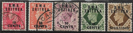 BOIC - ERITREA 1948 VALUES TO 1s On 1s SG E2, E3, E7, E8, E9 FINE USED Cat £9 - Unclassified