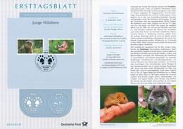 BRD - 2020 ETB 30/2020 - Mi 3562 / 3563 - 80-95C     Junge Wildtiere Fischotter Haselmaus - FDC: Hojas