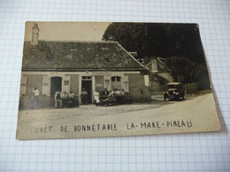 72 - Bonnetable Foret De La Mare Pineau Carte Photo (état Moyen) - Bonnetable