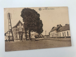 Carte Postale Ancienne (1923)   NIMY La Route Vers Casteau - Mons