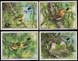 Cook Is. WWF Birds 4 Accompanying Miniature Sheets Overprinted MNH SG#MS1253 MI#Block 198-Block 201 - Cookinseln