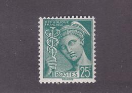 TIMBRE FRANCE N° 411 NEUF ** - 1938-42 Mercurio