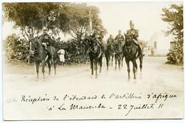 2/ CPA TUNIS  Militaires Réception De L'étandard à L'artillerie D'Afrique à La Manouba 22/07/1911  Carte Photo - Tunesien
