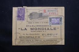 CÔTE D'IVOIRE - Enveloppe Commerciale En Recommandé De Bingerville Pour Elbeuf En 1925 - L 75450 - Briefe U. Dokumente