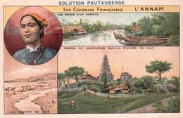"CHROMO - PUBLICITEE "" SOLUTION PAUTAUBERGE "" - COLONIES FRANCAISES - L'ANNAM - HUE - ILLUSTRATEUR - Ohne Zuordnung"