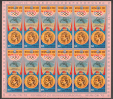 Equat. Guinea 1972 Kleinbogen Mi 169B MNH SUMMER OLYMPICS - MEDALS GYMNASTICS - Verano 1972: Munich