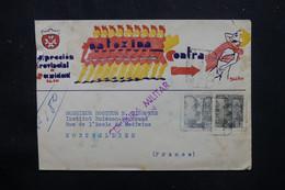 ESPAGNE - Censure Sur Enveloppe Commerciale En Recommandé De Leon Pour La France En 1940 - L 75456 - Marques De Censures Nationalistes