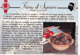 Recette CORSE: TIANU DU SIGNARE : Edit: SEGNU  N° 6008   (Sanglier à La Corse) (neuve) - Küchenrezepte