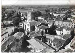 Cpsm En Avion Au-dessus De CASTELSARRASIN  : La Cathédrale . - Castelsarrasin