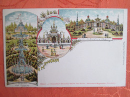Bruxelles  . Exposition Internationale Atervueren . 1897 . Au Dos Vignette Timbre De L Expo - Non Classificati