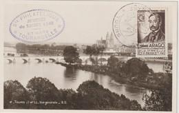 France FDC 1948 Journée Du Timbre Tours 794 - ....-1949