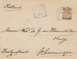 Nederlands Indië - 1906 - 15 Cent Bontkraag, Envelop G20 Van L KENDANGAN En VK Bandjermasin Naar Scheveningen - Indes Néerlandaises