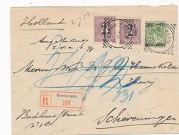 Nederlands Indië - 1905 - 20 Cent Bontkraag, Envelop G21 + 2x 2,5 Cent Van R Kendangan VK Bandjermasin Naar Scheveningen - Indes Néerlandaises