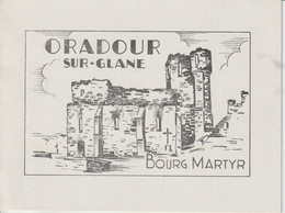 France FDC 1945 Oradour Sur Glane 742 Encart 2 Volets - ....-1949