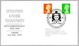 JUDAISMO - JUDAICA. 60 Aniv. Operacion Kinderstransports. London 1999 - Jewish