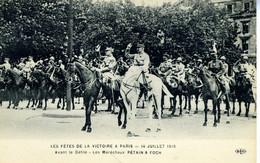 PARIS Les Fêtes De La Victoire à Paris   Juillet 1919  Maréchaux Pétain Et Foch - Other