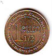 Jeton Ou Médaille Publicitaire 1 Euro 1/2  - DEMAIN L' EURO DES  CENTRES LECLERC - DU 14 AU 26 OCTOBRE 1996 - Non Classés