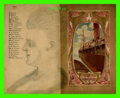 """PUBLICITÉ - COMPAGNIE GÉNÉRALE TRANSATLANTIQUE - LISTE DES PASSAGERS DE CABINE, PAQUEBOT """" L'AQUITAINE """" 1901 - - Advertising"""