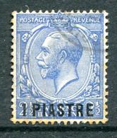 British Levant 1913-14 GB Overprints - KGV - 1pi On 2½d Bright Blue Used (SG 36a) - Levant Britannique