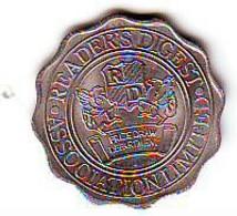 Jeton Ou Médaille Publicitaire Du READER'S  DIGEST ASSOCIATION LIMITED - Parfait état - Non Classés
