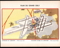 Aviation, Plan Du Grand Orly. . Format 31 X 24 Cm - Other Plans