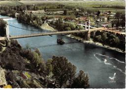 31 En Avion Au Dessus De BESSIERES Vers Montastruc La Conseillère N°8 Pont Suspendu Sur Le Tarn En 1964 - Montastruc-la-Conseillère