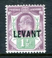 British Levant 1905-12 British Currency - KEVII - 1½d Dull Purple & Green HM (SG L3) - Levant Britannique