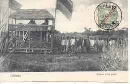 Postal Ilustrado Angola Cabinda Enterro - Carte Postale Affranchie Et Obliterée 10 Octobre 1918 - Angola