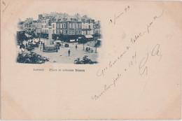 Bv - Cpa Précurseur LORIENT - Place Et Colonne Bisson (cachet 1899) - Lorient