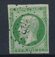 P-229 FRANCE: Lot  Avec  Petits Chiffres  728 (indice 12) Chandai (59))  Sur N°12 (clair Mais Bel Aspect) - 1853-1860 Napoleon III