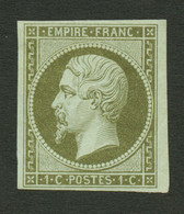 1c Bronze (n°11a) Neuf *. Cote 275€. Signé SCHELLER. TTB. - Sin Clasificación