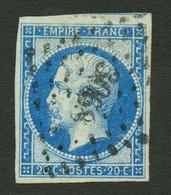 20c Type II Bleu Sur Vert (n°14Ba) Obl. Cote 210€. Signé SCHELLER. TTB. - Sin Clasificación