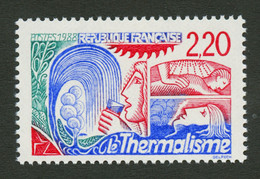 """THERMALISME Variété """"2F20"""" En Rouge Au Lieu De Bleu (N°2556a) Neuf **. Cote 600€. Superbe. - Non Classés"""