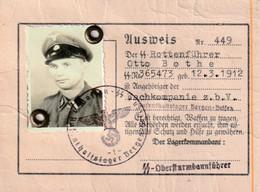 Propaganda Deutsches Reich Ausweis SS Rottenführer - Historical Documents