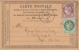CARTE PRECURSEUR. N° 54 ET 53. COTE D'OR. BEAUNE GC 396. L.MOITON POUR DIJON - 1849-1876: Periodo Classico