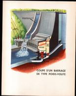 Coupe D'un Barrage De Type Poids Voute. Format 31 X 24 Cm - Tools