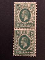 Somaliland ½d Green Pair Mint Never Hinged SG32 - Somaliland (Protectorat ...-1959)