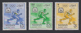 Sudan Olympic Games Roma 3v MNH SG#155-157 SC#130-132 - Soedan (1954-...)