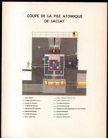 Coupe De La Pile Atomique De Saclay. Format 31 X 24 Cm - Tools