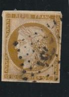 France N° 1a  Bistre Brun Tous Ces Filets Mais Des Clairs , Belle Presentation - 1849-1850 Ceres