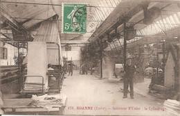 ROANNE (42) Intérieur D'Usine - Le Cylindrage En 1910 - Roanne